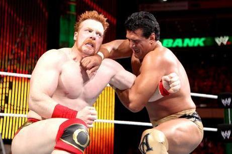 Sheamus vs Del Río en Money in the Bank 2012.