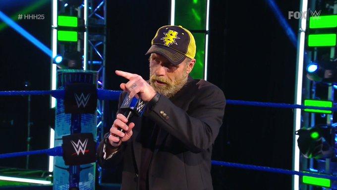 Shawn Michaels en el SmackDown celebración de HHH.