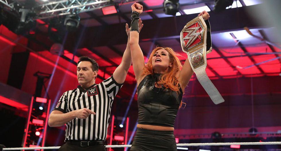 Becky en WrestleMania