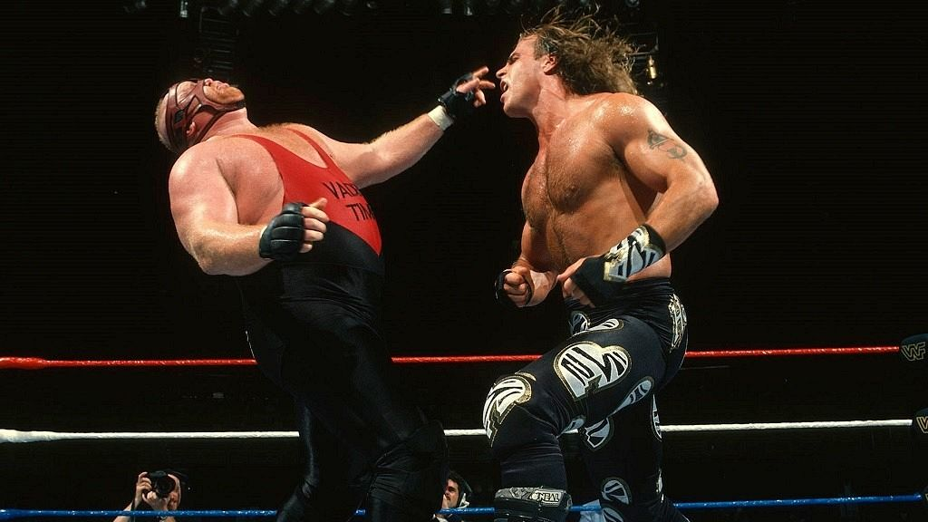 Shawn Michaels junto a Vader.