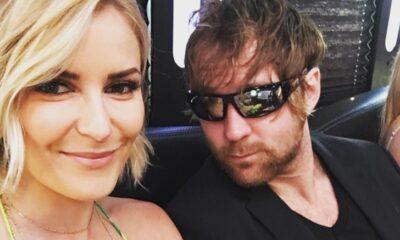 Jon Moxley y Renee Paquette