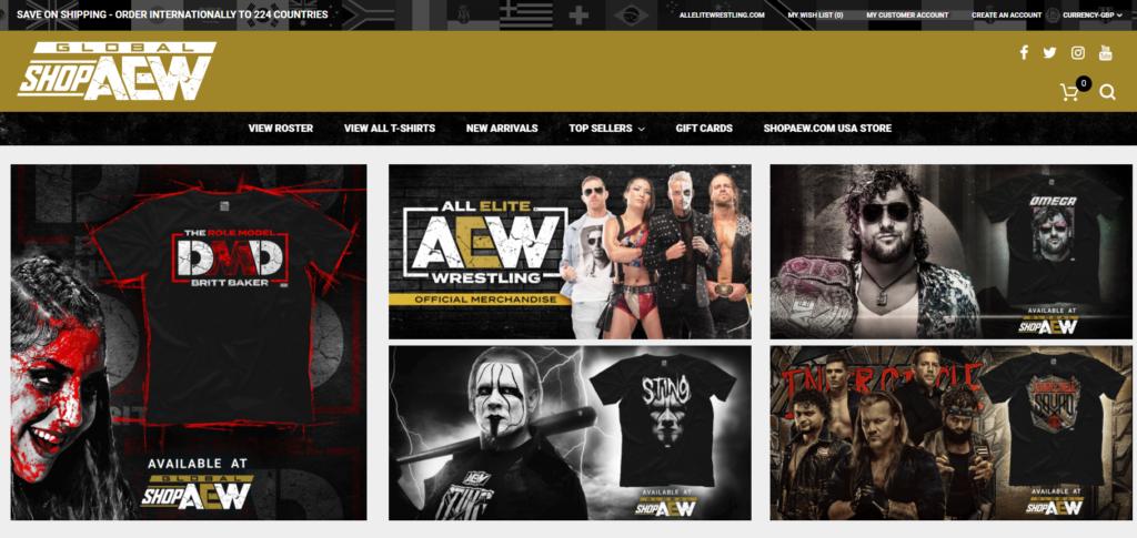 AEW y su nueva portal de ventas internacionales.